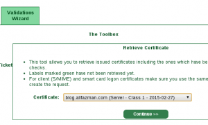 Certificate is ready to be retrieve.
